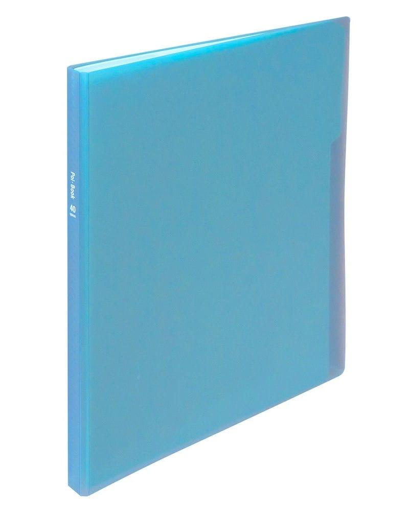 ナカバヤシ クリアホルダーポイブック 20ポケット ブルー CB5036B