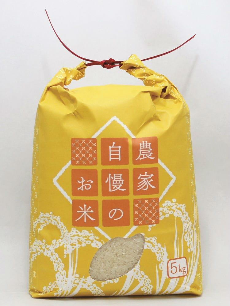 新袋米袋 5kg 黄金稲穂柄