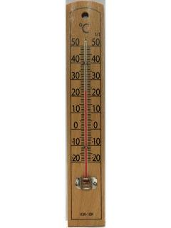 木製温度計ケヤキ KW-10K