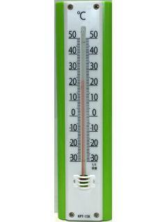 プラ温度計グリーン KPT-15