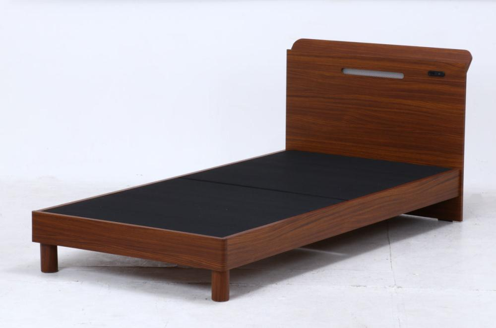 木製ベッド フェルプス シングル ブラウン