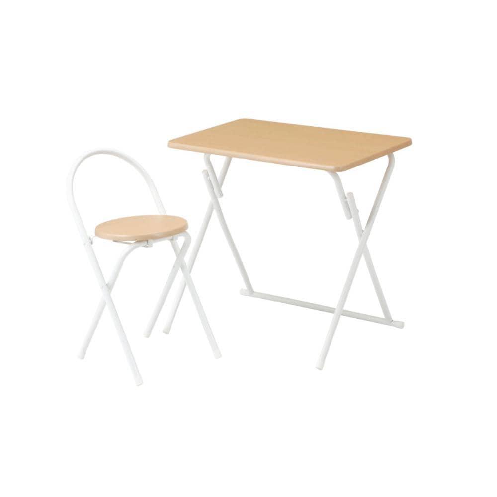 アテーナライフ 折畳テーブル&チェアセット ナチュラル JY187013N