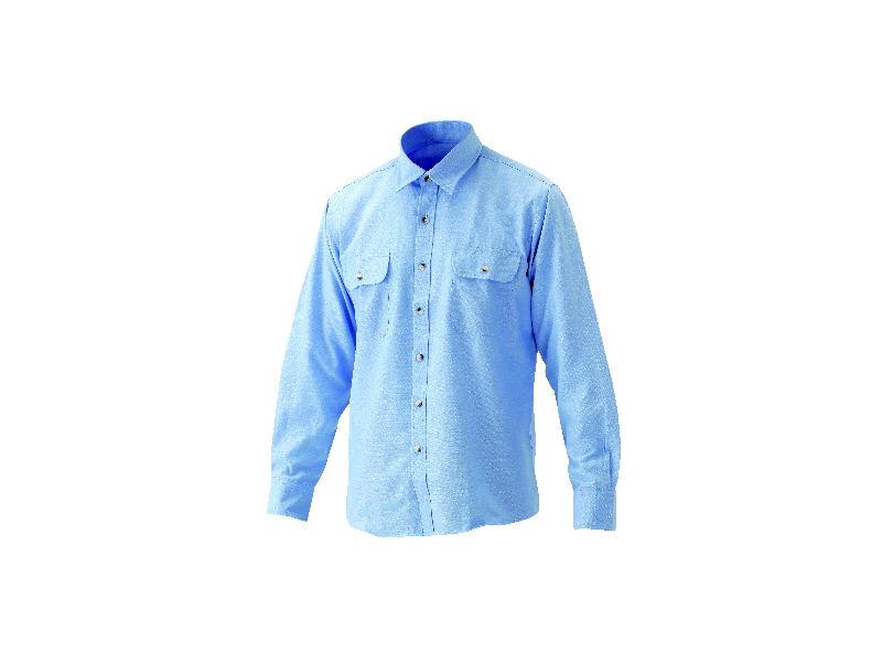 紳士ダンガリーシャツ ブルー L