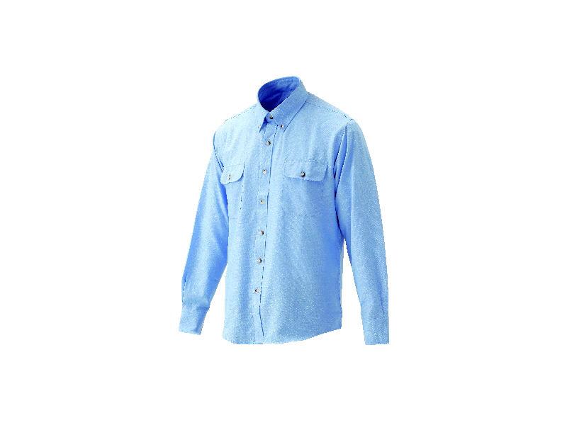 紳士ボタンダウンシャツブルー L