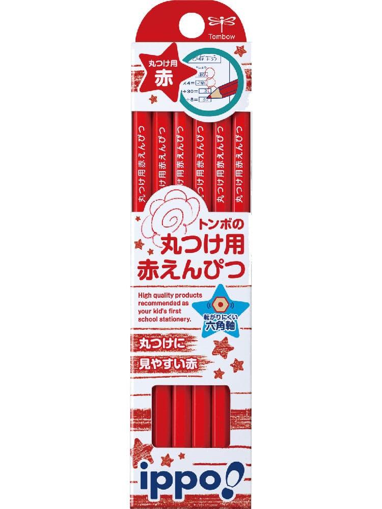 トンボ鉛筆 赤鉛筆丸つけ用赤えんぴつ