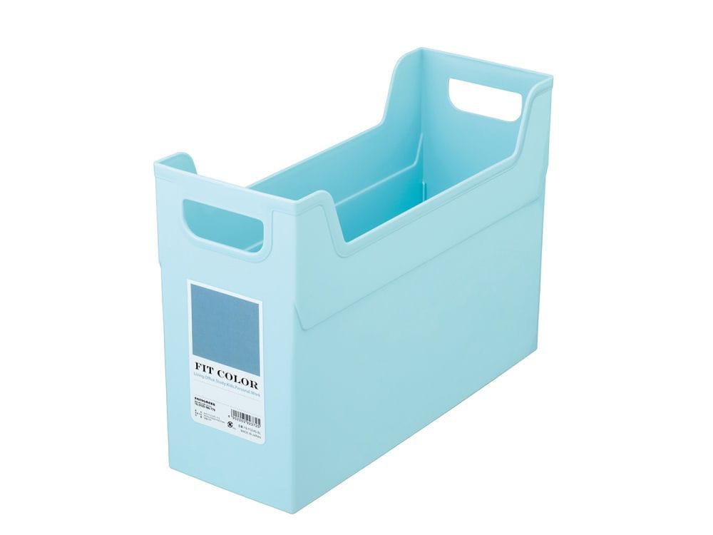 ナカバヤシ フィットカラー ファイルボックス ブルー
