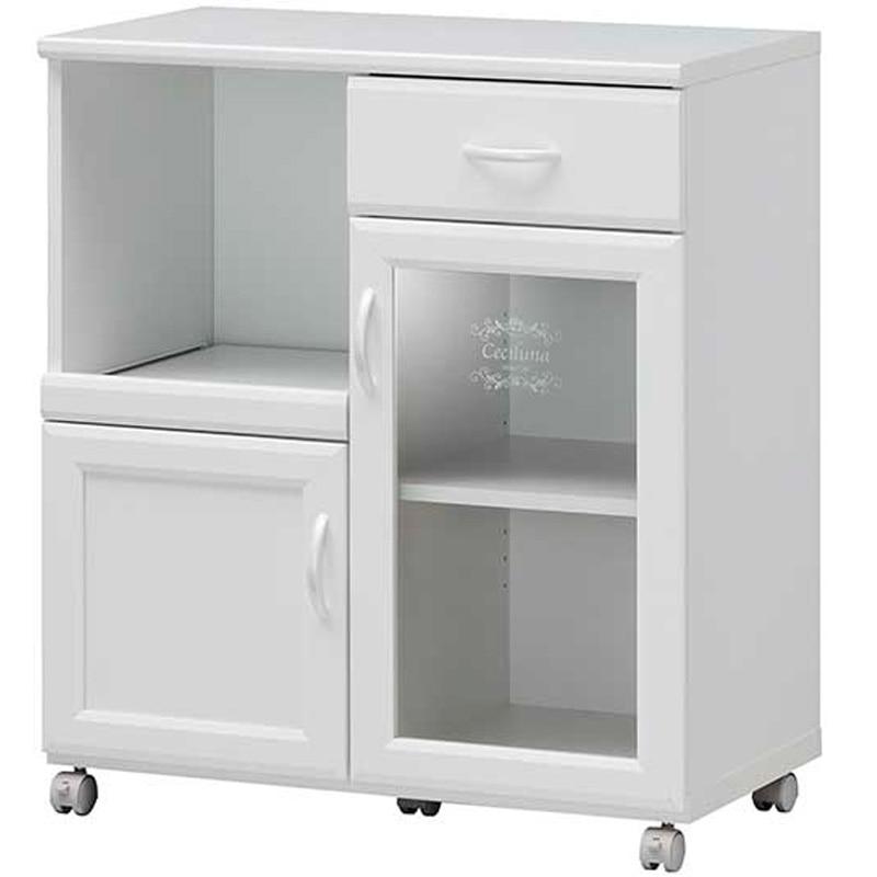 セシルナ カウンターワゴン CEC-8575SL ホワイト