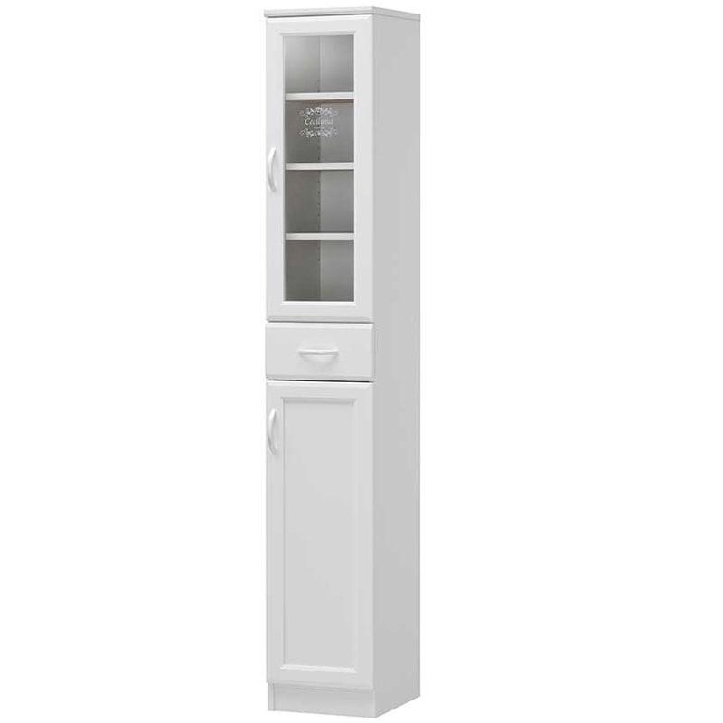 白井産業 セシルナ カップボード ホワイト CEC-1830DGH