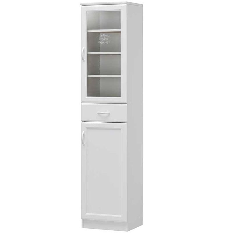 白井産業 セシルナ カップボード ホワイト CEC-1840DGH