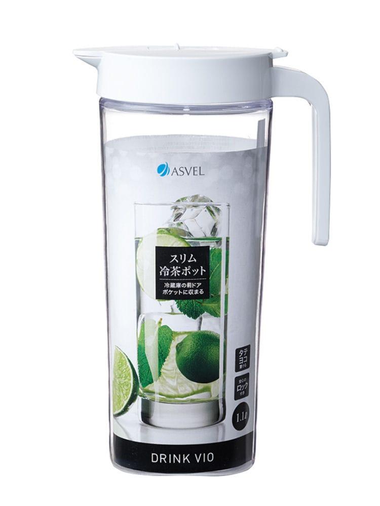 スリム冷茶ポット 1100ml ホワイトS1100