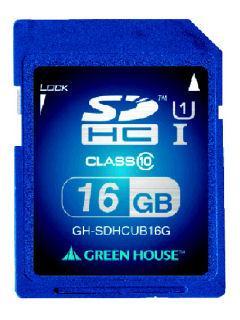 グリーンハウス SDHC CL10 U1 16GB