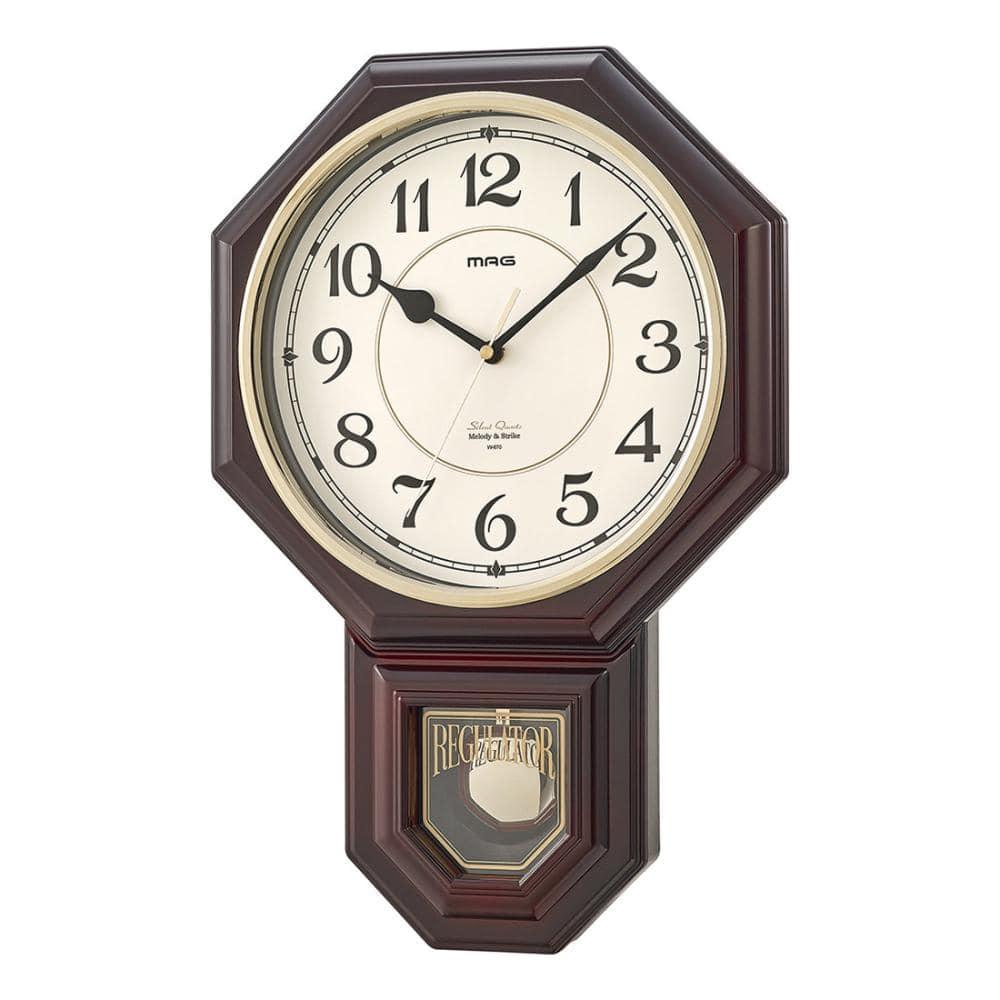 ノア精密 ボンボン時報付き掛け時計 MAG 西洋館 W-670BR