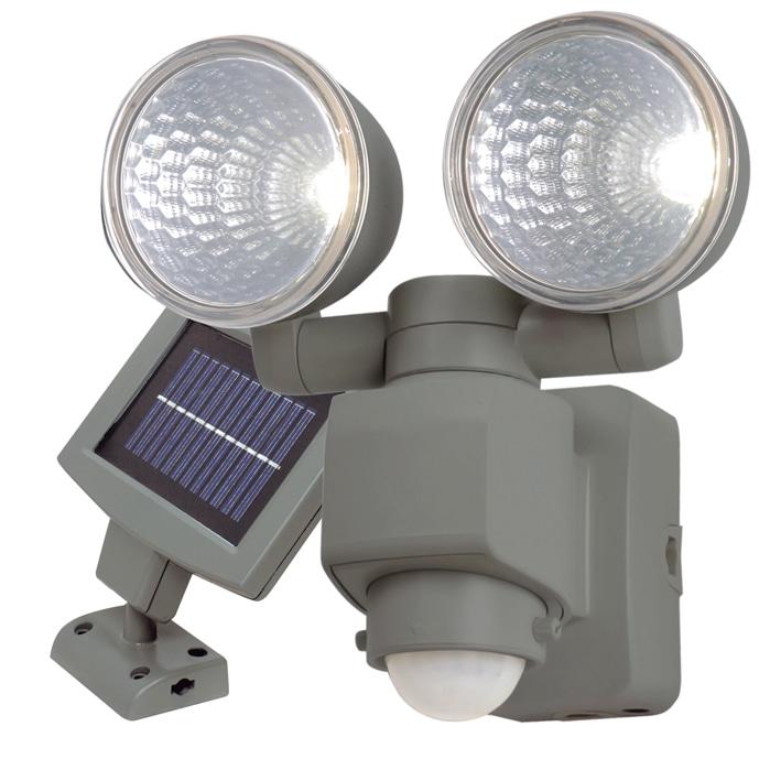 【アウトレット】LED ソーラー式センサーライト 2灯 LS-122KO