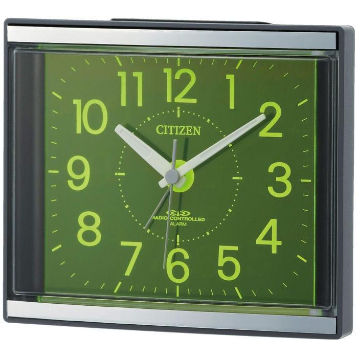 リズム時計 シチズン 電波目覚まし時計 グレー 4RL434