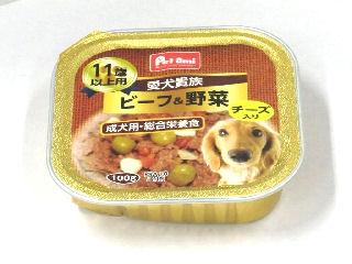 Petami 愛犬貴族 トレイ ビーフ&野菜チーズ入り 11歳以上用 100g