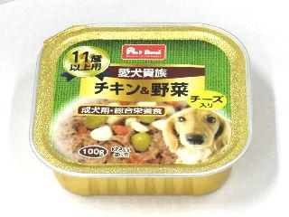 Petami 愛犬貴族 トレイ チキン&野菜チーズ入 11歳以上用 100g
