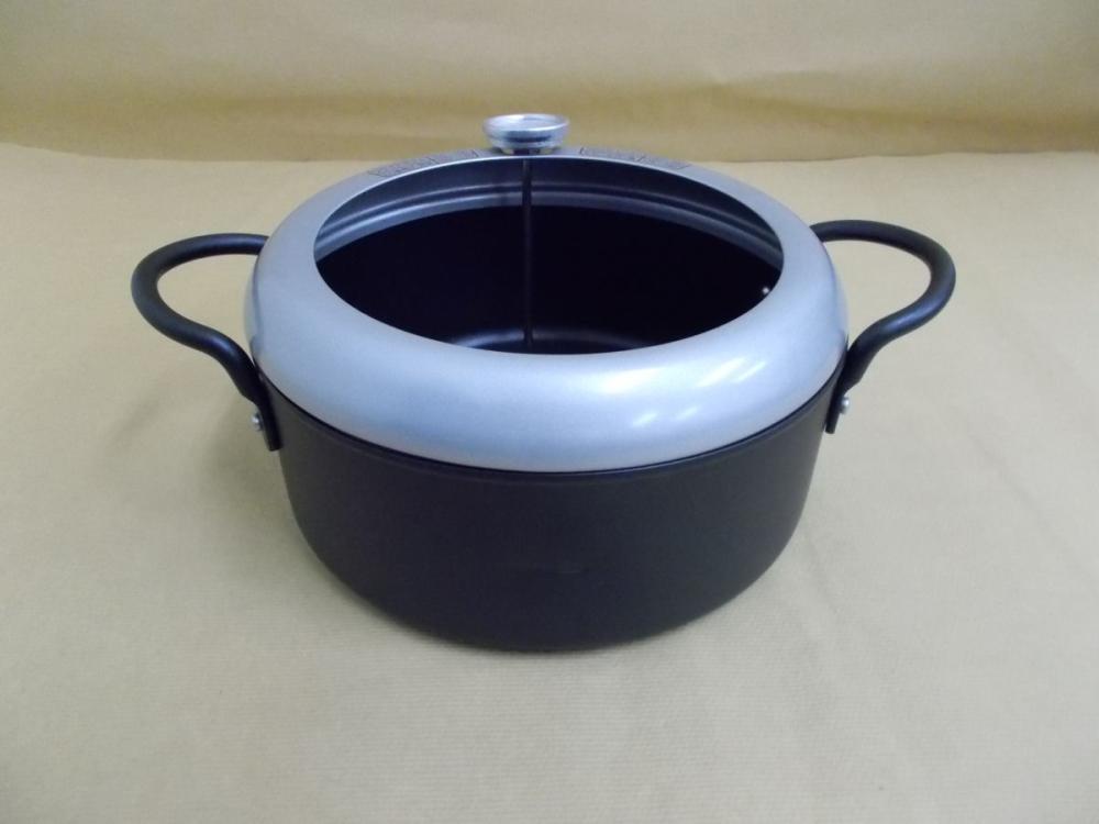 アテーナライフ 温度計付天ぷら鍋 20cm