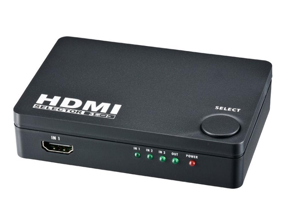4K対応3ポートHDMIセレクター