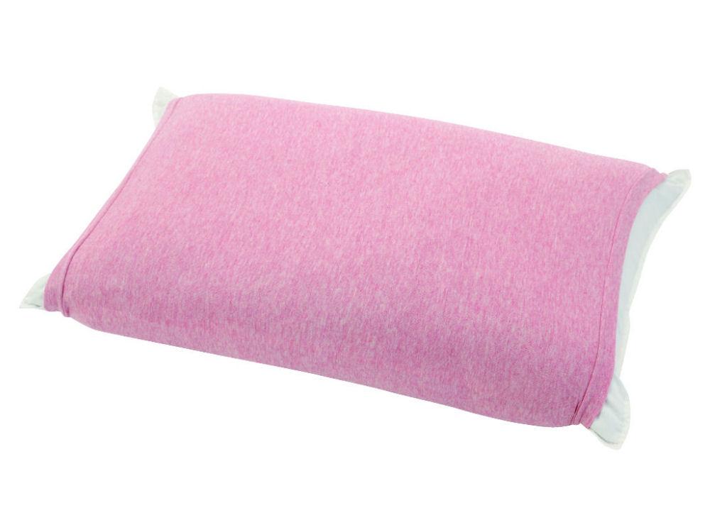 伸びるニット枕カバー 筒型 ピンク