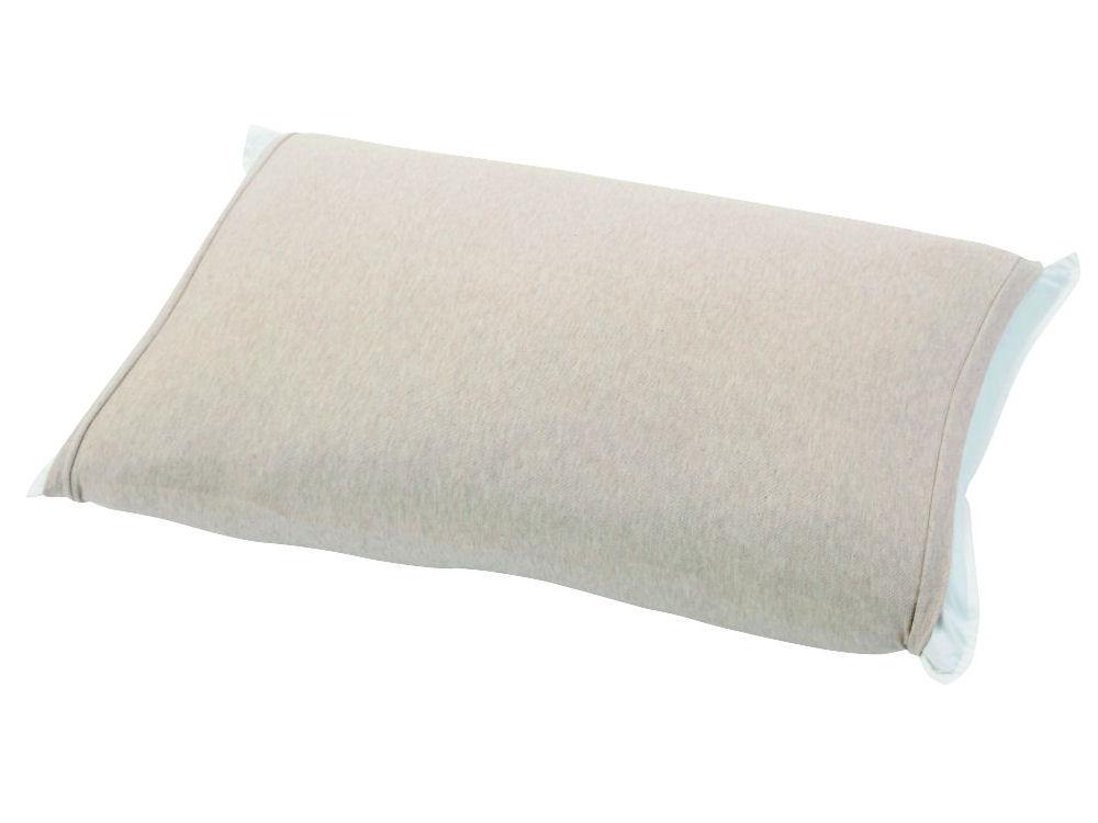 伸びるニット枕カバー 筒型 ベージュ