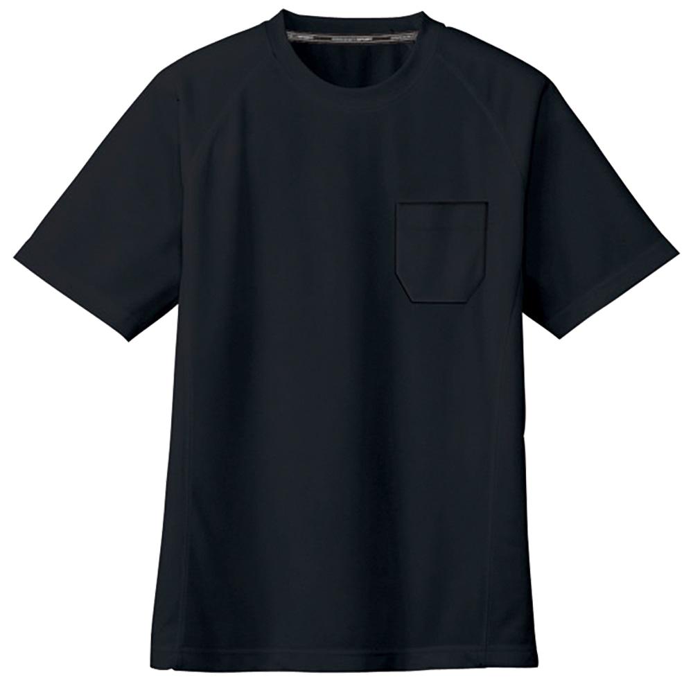 コーコス信岡 半袖Tシャツ 吸汗速乾 男女兼用 ブラック S AS-657