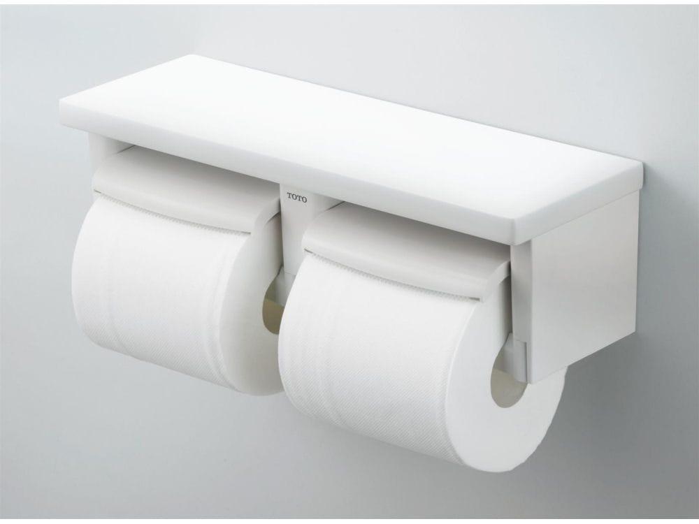 TOTO 棚付二連紙巻機 YH650#NW1 ホワイト