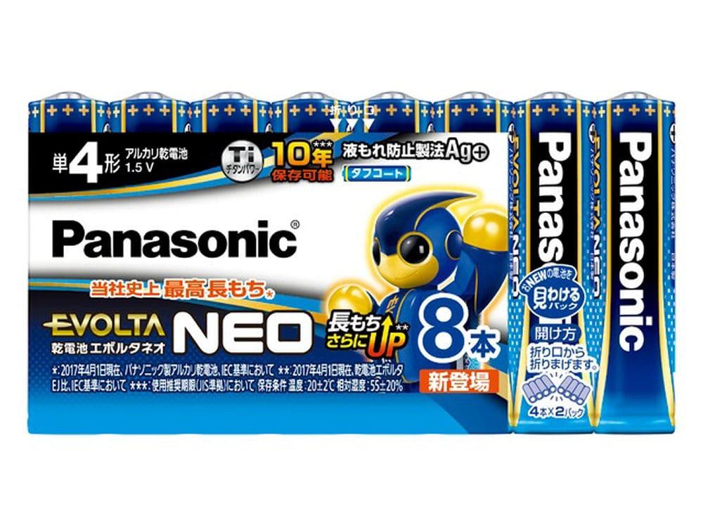 パナソニック エボルタNEO 単4形アルカリ乾電池 8本 LR03NJ/8SW