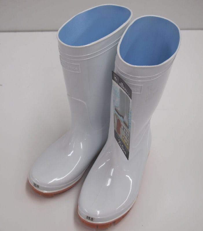 K+耐油耐滑PVCブーツ 24.0cm ホワイト