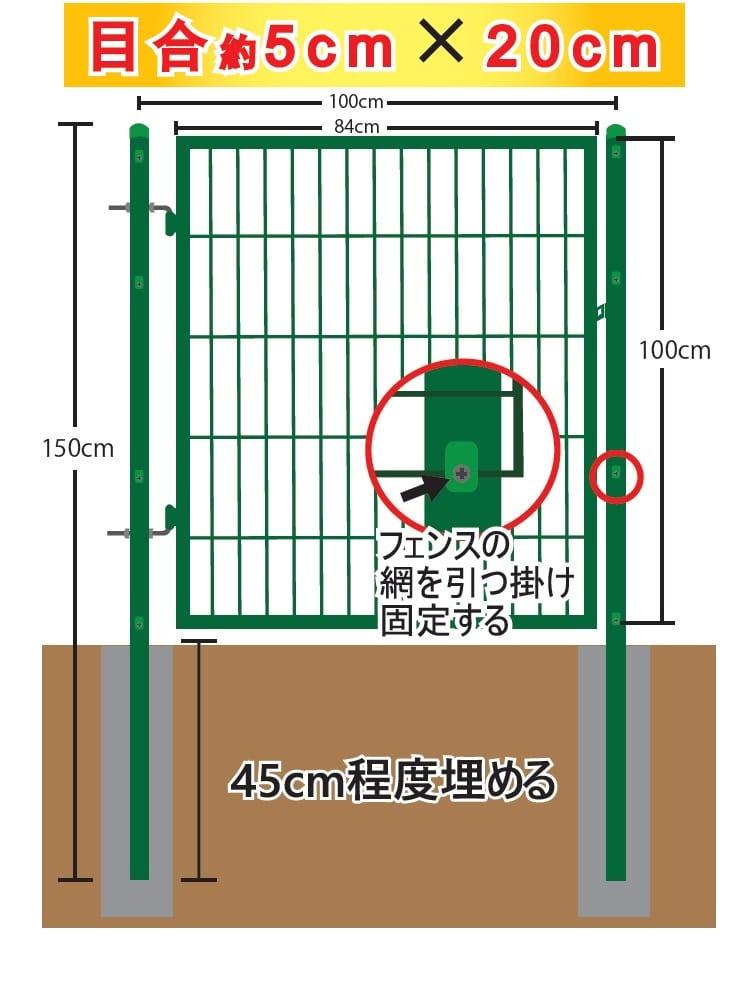 フェンス用扉セット 各サイズ
