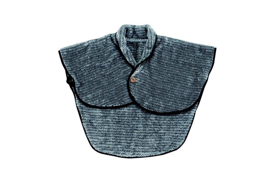 肩当毛布 ルーシィ グレー 50×70