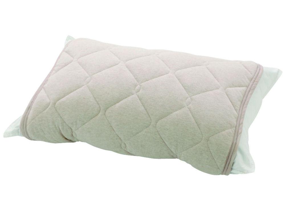 やわらか綿ニット枕パッド ベージュ 55×50