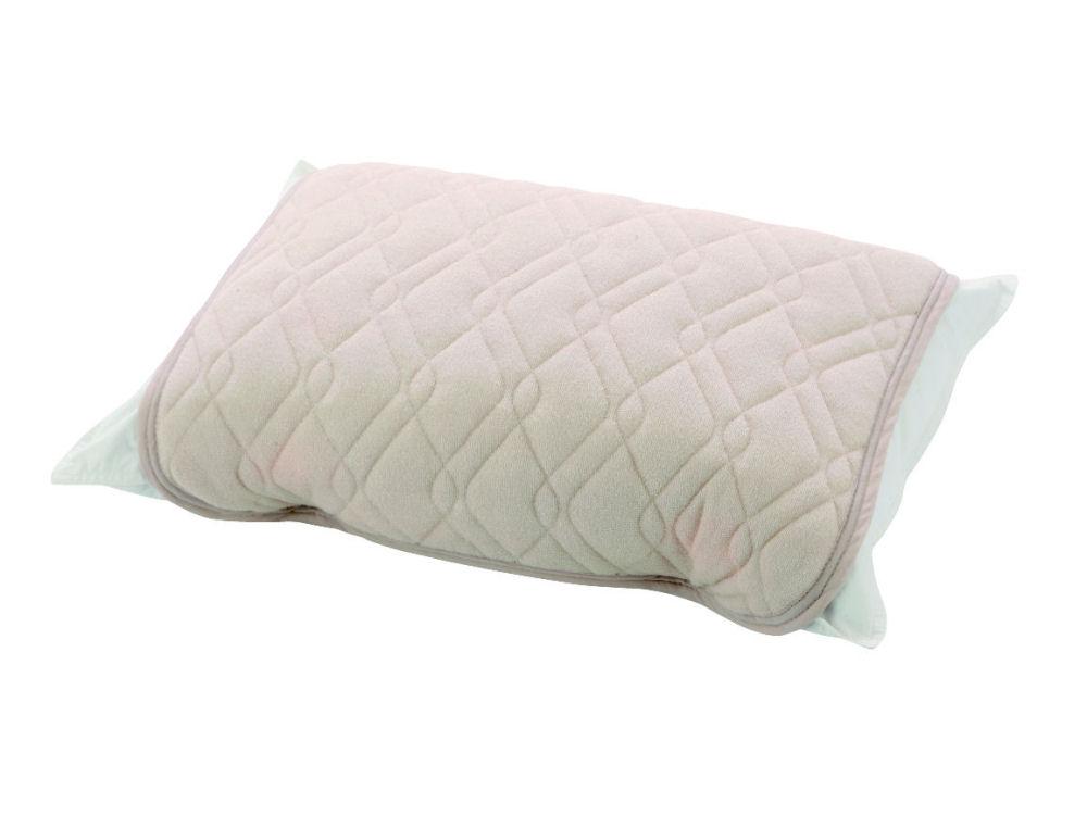 さらさら綿パイル枕パッド アイボリー 55×50