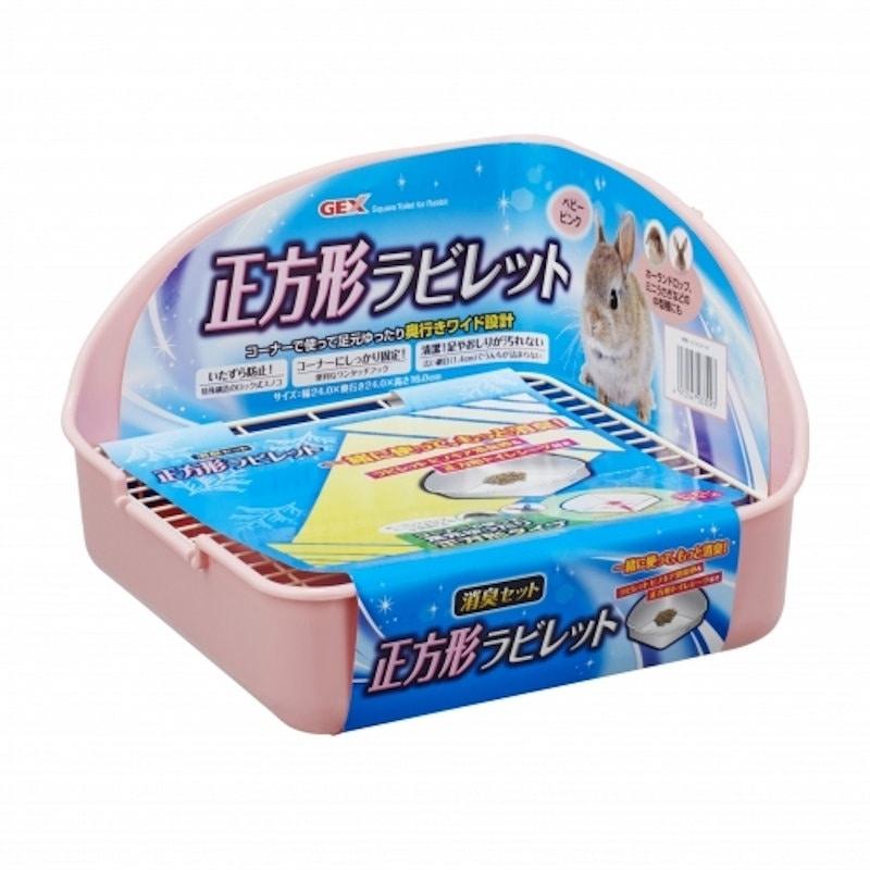 GEX ヒノキア正方形ラビレット消臭セット ベビーピンク