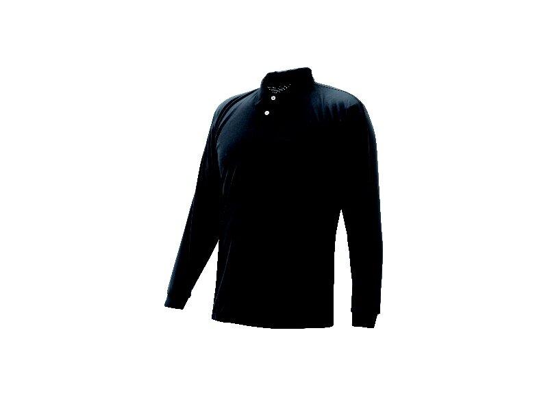 長袖ポロシャツ 黒 LL