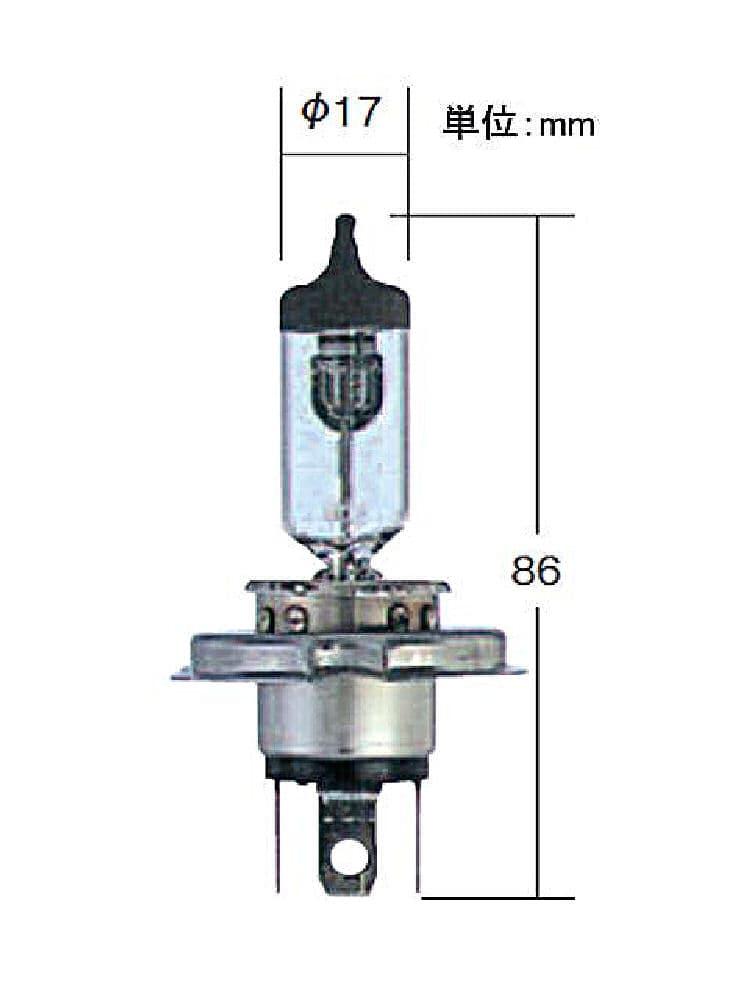 ハイパワーハロゲンバルブ H4 0551