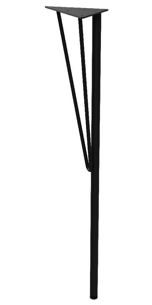 スチールテーブル脚 黒 WTK-1