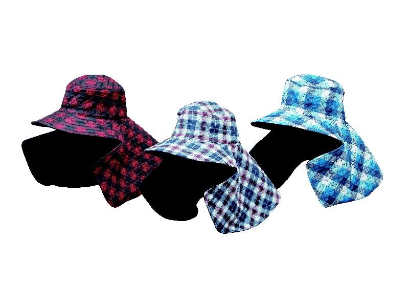 キルト農帽 チェック CX08-006