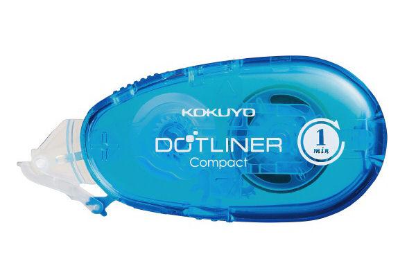 コクヨ テープのり ドットライナーコンパクト プリント用青