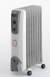 オイルヒーター ホワイト+ミディアムグレー H770812EFSN-GY