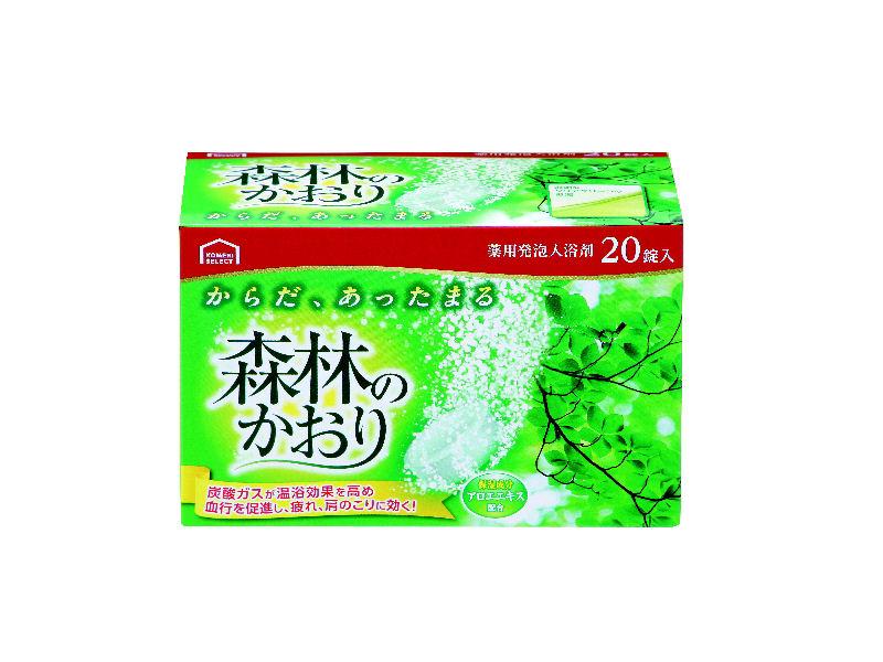 コメリセレクト 薬用発泡入浴剤 森林 20錠