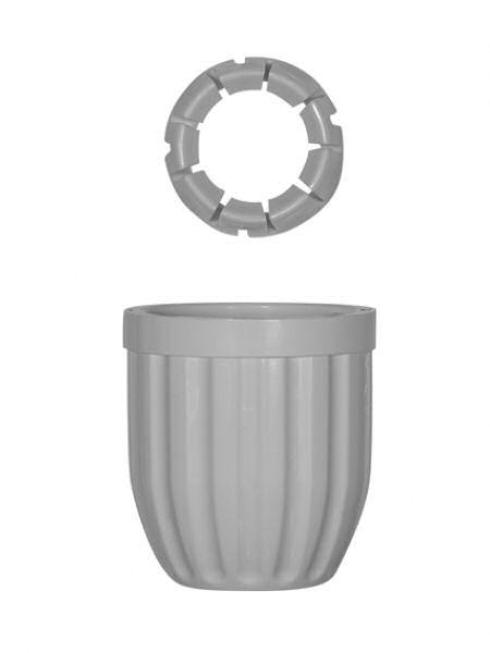 ツメ付きC型リング+ロックナットS