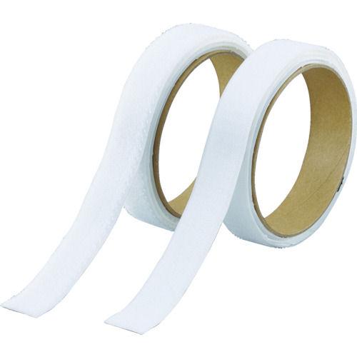TRUSCO マジックテープ 強粘着 幅25mmX長さ1m 白_