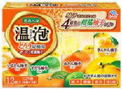 アース 温泡 贅沢柑橘ゆず 12錠