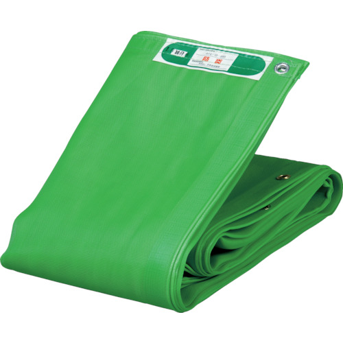 TRUSCO ソフトメッシュシートα 幅1.8mX長さ3.4m 緑_