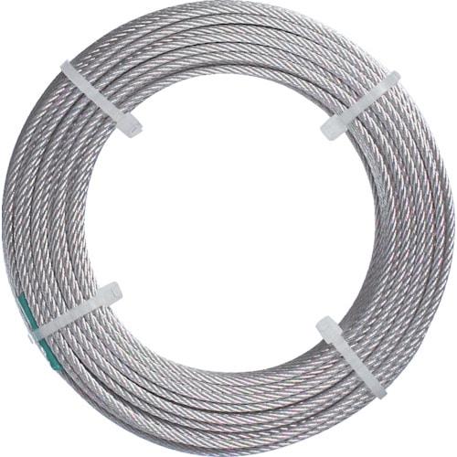 TRUSCO ステンレスワイヤロープ ナイロン被覆 各種