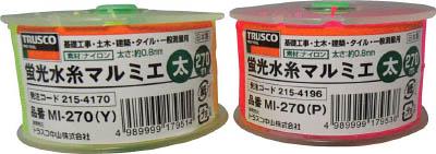 TRUSCO 蛍光水糸マルミエ 細 500m ピンク_