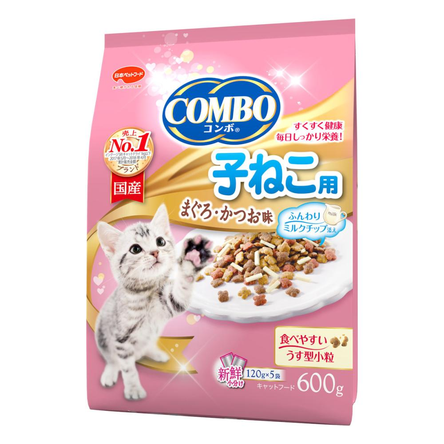 日本ペット コンボキャット 子ねこ用 ミルクチップ 600g