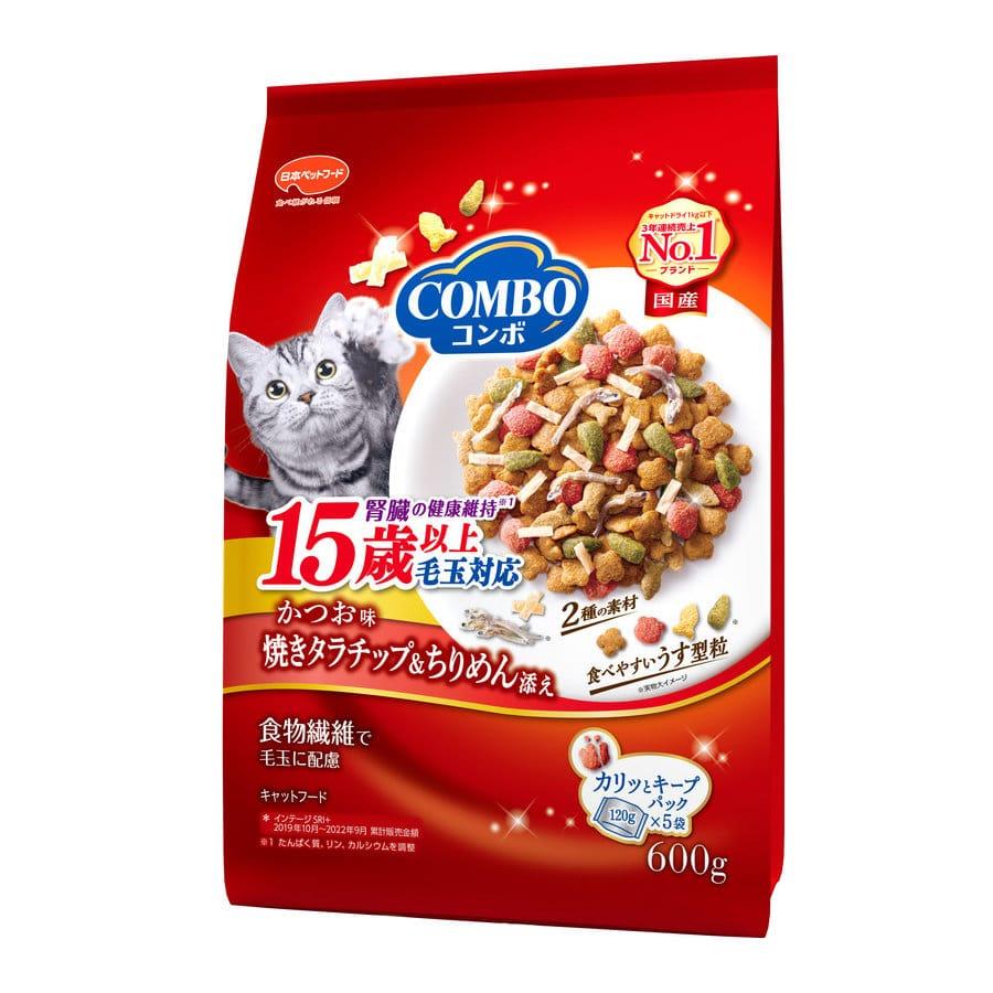 日本ペット ミオコンボキャット 毛玉対応15歳以上用 600g