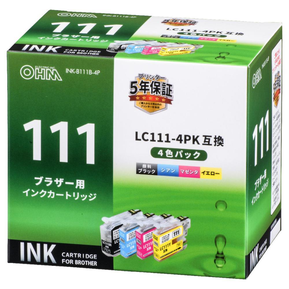 ブラザー互換インク 111 4色パック