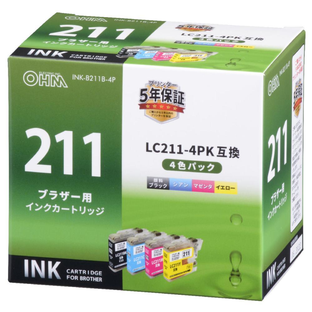 ブラザー互換インク 211 4色パック